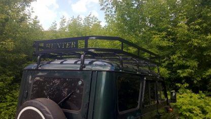 Багажник УАЗ 469, Хантер Викинг, 10 опор. Кронштейны под галогенные фонари. С двумя надписями HUNTER3