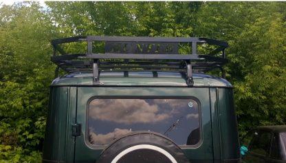 Багажник УАЗ 469, Хантер Викинг, 10 опор. Кронштейны под галогенные фонари. С двумя надписями HUNTER4