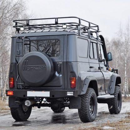 Бампер силовой задний УАЗ 469Хантер, Таран-2с крепления под штатный фаркоп