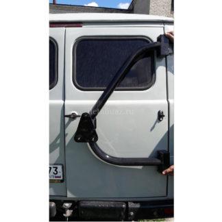 Фото 31 - Кронштейн-держатель запаски синхронный на заднюю дверь УАЗ 452.
