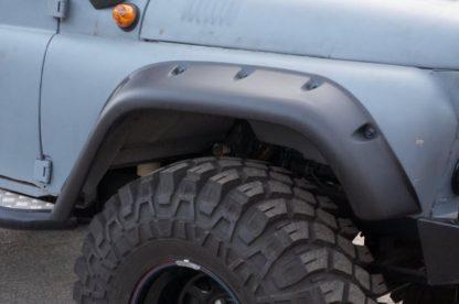 Расширители колесных арок УАЗ   Lapter  под колеса   с нерезаными арками ТКУ
