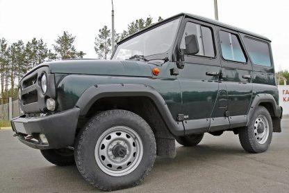 Молдинги УАЗ-469, Хантер. Широкие, 10 деталей (АБС пластик)1