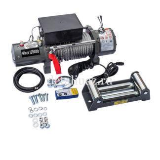 Фото 7 - Лебедка электрическая 12V Electric Winch GRIZZLY F 12000lbs / 5443 кг (блок управления и механизм влагозащищены (IP66) стальной трос BZ12000F.