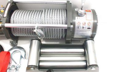 Лебедка электрическая V Electric Winch lbs  кг блокмеханизм IP со стальным тросом и усилинным тормозом WRM