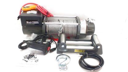Лебедка электрическая V Electric Winch GRIZZLY lbs  кг блокмеханизм IP стальной трос несъемный блок управления
