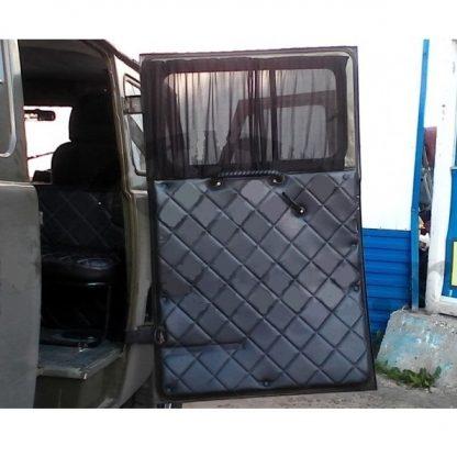 Обивка салонной двери УАЗ 452 (ДВП, винилкожа, поролон, ватин, стеганый «ромб»)