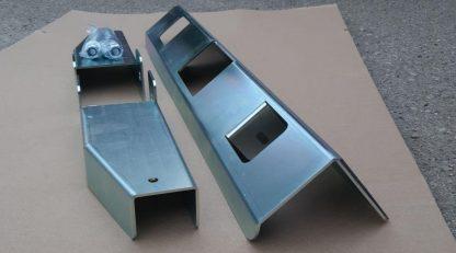 Усилитель (вкладыш) заднего бампера УАЗ Патриот (с 2014-2017 г.в.) под механизм запора калитки запасного колеса РИФ2