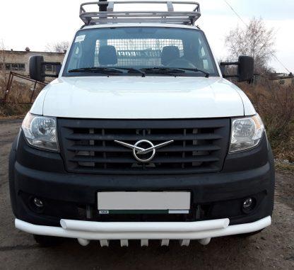 Защита переднего бампера сдвоенная УАЗ Профи с защитой рулевых тяг.4