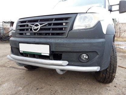 Защита переднего бампера сдвоенная УАЗ Профи.1