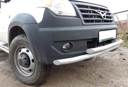 Защита переднего бампера сдвоенная УАЗ Профи.2
