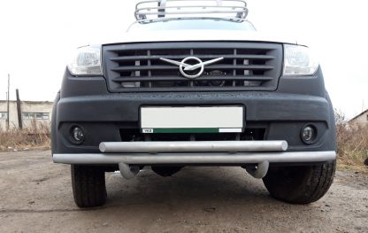 Защита переднего бампера сдвоенная УАЗ Профи.3