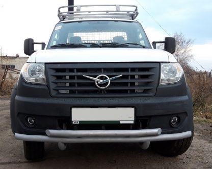 Защита переднего бампера сдвоенная УАЗ Профи.4
