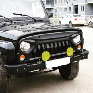 Облицовка радиатора УАЗ 469Хантер Злая-3 ФОТО-3