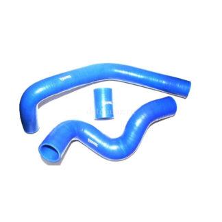 Фото 6 - Патрубки радиатора УАЗ Патриот с кондиционером (3 шт) (синие).