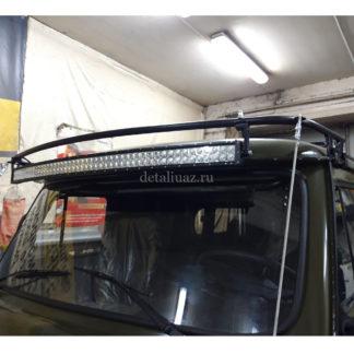Фото 5 - Кронштейн веткоотсекателей и светодиодной балки УАЗ-452.