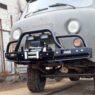Бампер передн силовой УАЗ-452 РУБИКОН-2 с малым кенгурином ФОТО-0