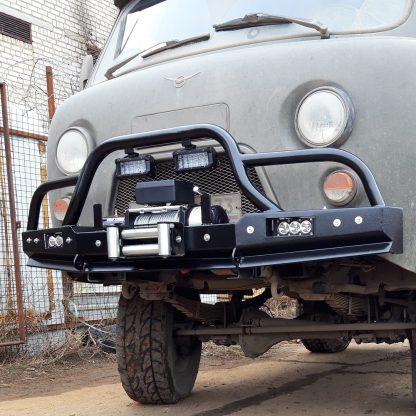 Бампер передн силовой УАЗ-452 РУБИКОН-2 с малым кенгурином