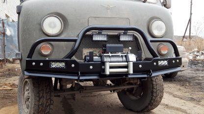Бампер передн силовой УАЗ-452 РУБИКОН-2 с малым кенгурином1