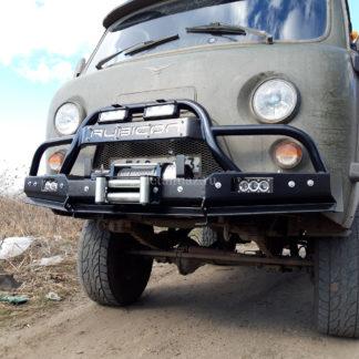 """Фото 28 - Бампер передн силовой УАЗ-452 """"РУБИКОН-3"""" с малым кенгурином и швеллером с названием."""