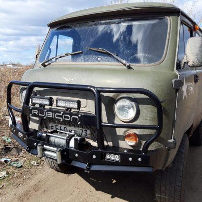 Бампер передн силовой УАЗ-452 РУБИКОН-6 с увеличенным кенгурином и швеллером с названием