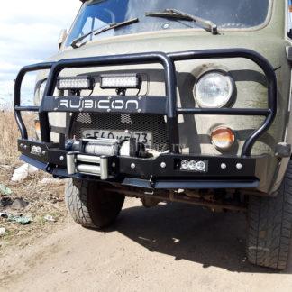 Бампер передн силовой УАЗ-452 РУБИКОН-6 с увеличенным кенгурином и швеллером с названием4 ФОТО-4