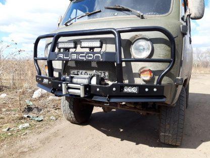 Бампер передн силовой УАЗ-452 РУБИКОН-6 с увеличенным кенгурином и швеллером с названием4