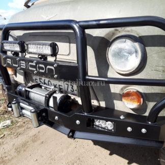Бампер передн силовой УАЗ-452 РУБИКОН-6 с увеличенным кенгурином и швеллером с названием6 ФОТО-6