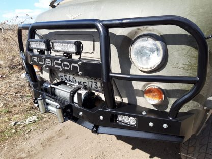 Бампер передн силовой УАЗ-452 РУБИКОН-6 с увеличенным кенгурином и швеллером с названием6