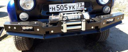 Бампер силовой передний 469 Хантер РУБИКОН-1 без кенгурина4