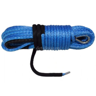 Фото 20 - Трос синтетический для лебедок 28 м х 10 мм синий.