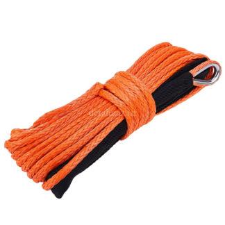 Фото 21 - Трос синтетический для лебедок 28 м х 12 мм оранжевый.