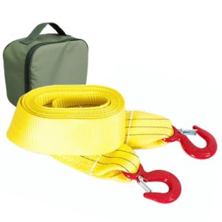 Фото 15 - Строп (ремень) буксировочный 8/13 т 6 м (а/м до 4.5 т) Крюк/Крюк + сумка (олива), T plus.