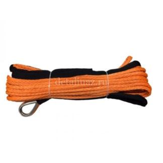 Фото 19 - Трос синтетический для лебедок 28 м х 10 мм оранжевый Telawei.