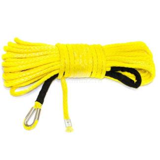 Фото 2 - Трос синтетический для лебедки (10 мм х 28 м) желтый.